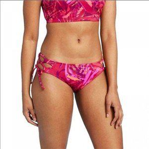 ALL IN MOTION Tropical Side Tie Swim Bottoms